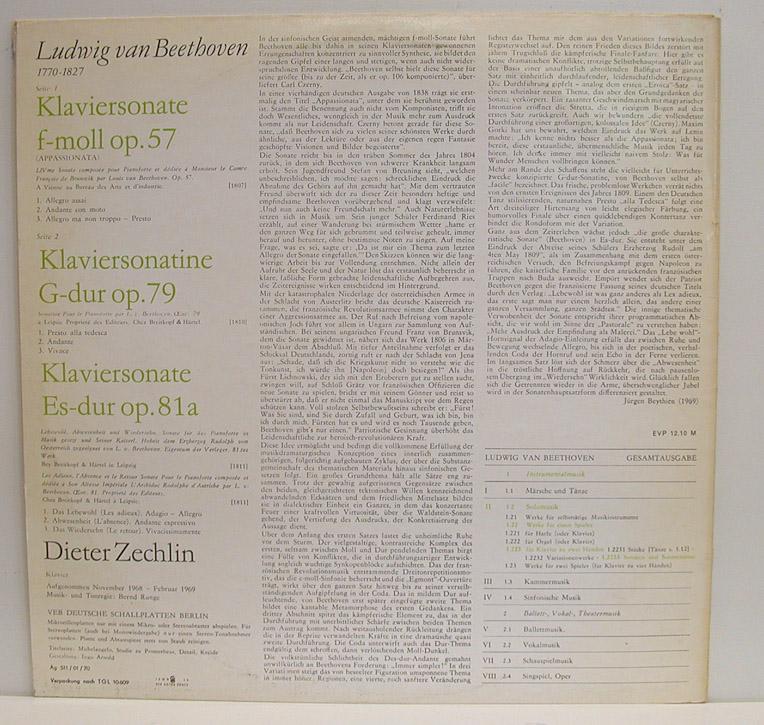 Dieter Zechlin - Beethoven - 12 Klaviersonaten