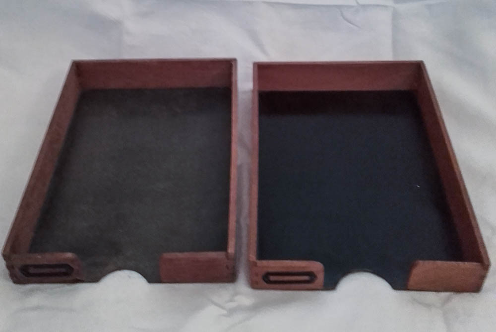2 din a4 aktenablagen holz ablage vintage b roablagen briefablage 2 ebay. Black Bedroom Furniture Sets. Home Design Ideas