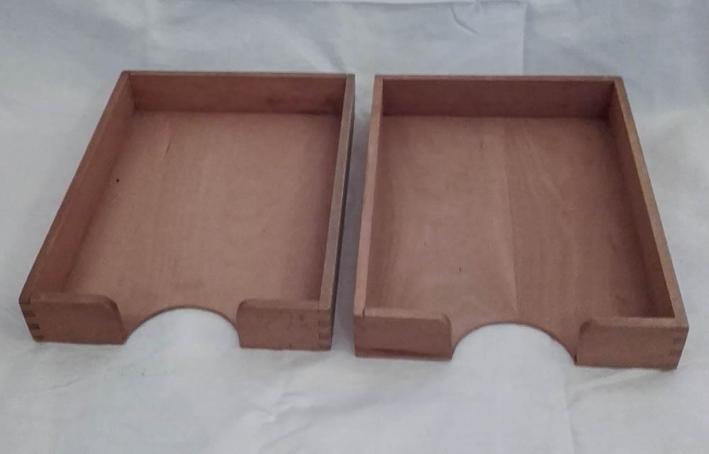2 din a4 aktenablagen briefablage holzablage bauhaus vintage design 9. Black Bedroom Furniture Sets. Home Design Ideas